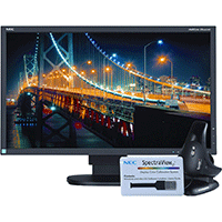 NEC-Monitor-EA244UHD-BK-SV-24-Inch-Screen-LED-Lit-Monitor