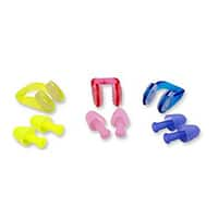 Swimming Nose Clips and Earplugs Mega Set by BluPond®