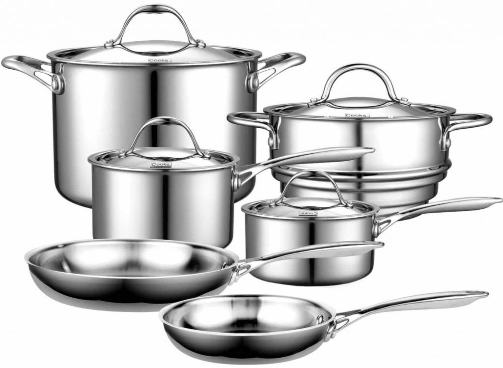 Cooks Standard 10-piece Stainless Steel Cookware Set - Model NC-00210