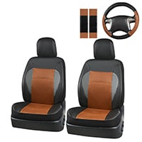 CAR PASS Luxurious Leather Universal Car Seat Covers