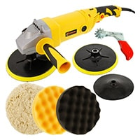 Heavy Duty Variable Speed Polisher with a 6 Pad Buffing and Polishing Kit
