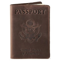Shvigel Leather Passport Cover & Holder