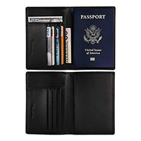 Travelambo RFID Blocking Genuine Leather Passport Holder