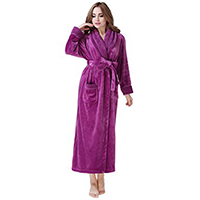 Richie House Women's Plush Soft Fleece BathrobeS