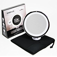 10x Magnifying Lighted Makeup Mirror by Upper West Collection