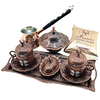 CopperBull Turkish Coffee Pot Set