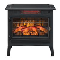 Duraflame DFI-5010-01 Infrared Quartz Fireplace Stove with 3D Flame Effect