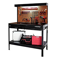 Garage Workbench with Light by WorkPro psd