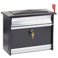 Gibraltar Large Lockable Wall Mount Mailbox