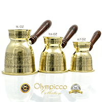 Greek and Turkish Coffee Pot Set of 3