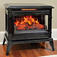 Jackson Black Infrared Electric Fireplace Heater