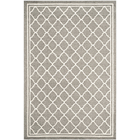 Safavieh Amherst Collection AMT422R Dark Grey and Beige Indoor/ Outdoor Area Rug 4 feet x 6 inches