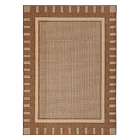 Jardin Collection Contemporary Design Indoor Outdoor Area Rug 5 foot 3 inch x 7 foot 3 inch