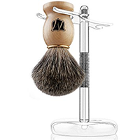 Miusco Badger Hair Wooden Shaving Brushpsd