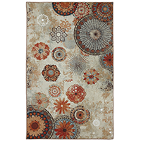 Mohawk Home Printed Indoor Outdoor Alexa Medallion Multi Rug