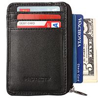 Protectif Genuine Leather Durable Slim Wallet
