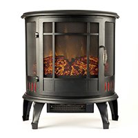 Regal Electric Fireplace - e-Flame USA 25 Inch Black Portable Fireplace