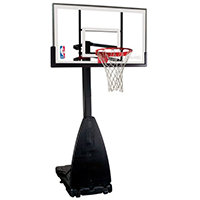 Spalding NBA Portable Hoop 54 inch Glass