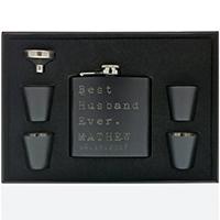 Sugar Yeti Matte Black Personalized Flask
