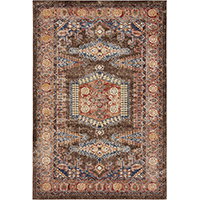 Traditional Persian Rugs Light Brown 4 foot x 6 foot