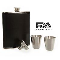 Zutro Hip Flask Gift Set