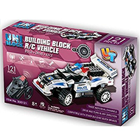 UniBlock Remote Controlled RC Building Block Police Car