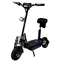 Black Super Turbo Electric Scooter
