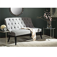 Safavieh LVS1003C Livingston Collection Valerie Taupe Settee
