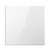 Touch White Wall Light Switch by Legrand Adorne