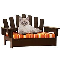 Wooden Adirondack Pet Chair
