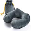 Purefly-Soft-Velvet-Inflatable-Travel-Neck-Pillow